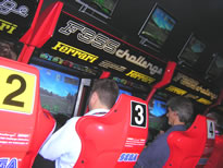 Damon Hill, Ex Formula One World Champion, Drives Racing Challenges F1 Car Simulator