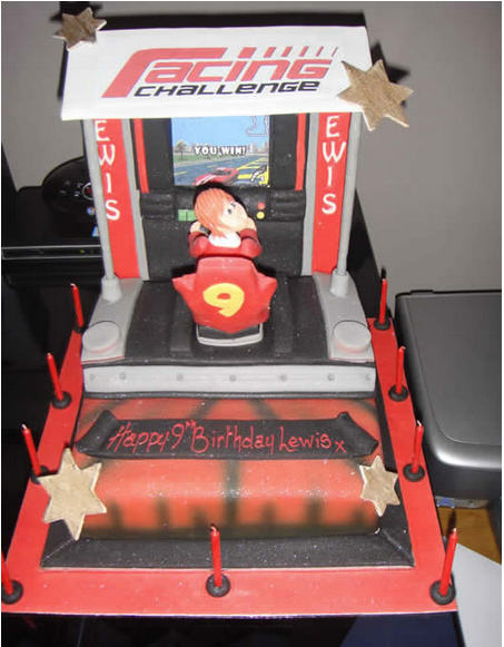 Racing Challenge Cake - Kids Party Ideas Golders Green