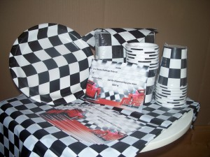 Kids Party Ideas in Golders Green, racing themed partyware