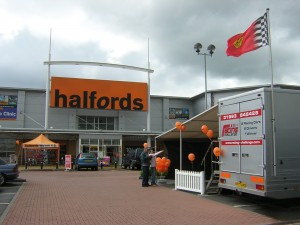 Halfords Store Opening at Shopping Centre.