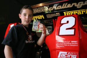 Boys party ideas include Racing Challenge Driver's Pass