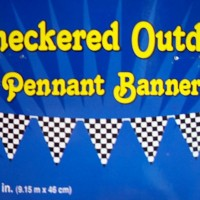 PREMIER Chequered Flag Party Bunting