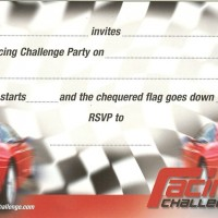 Race Car Children's Party Invitations