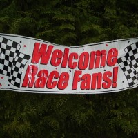 Giant 'Welcome Race Fans' Party Banner