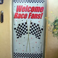 WELCOME RACE FANS Race Party Door Sign